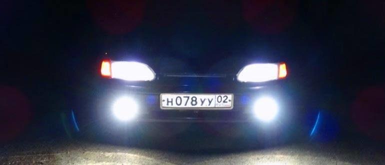 Какие лампочки стоят в фарах ВАЗ 2114
