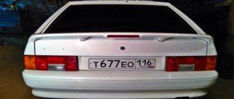 Объем багажника на ВАЗ 2114