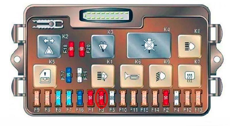 Предохранитель освещения салона на ВАЗ 2114
