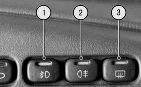 Кнопки на панели ВАЗ 2114