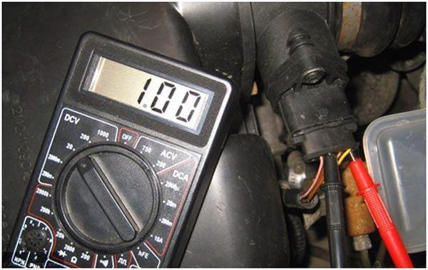 Проверка ДМРВ ВАЗ 2114 мультиметром