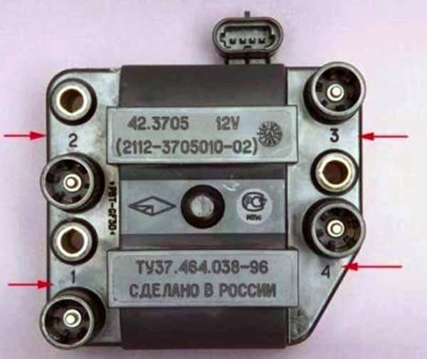 Проверка катушки зажигания ВАЗ 2114