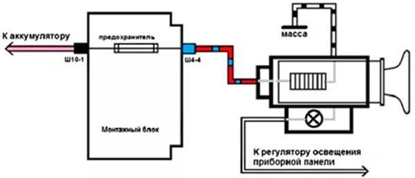 Схема прикуривателя ВАЗ 2114