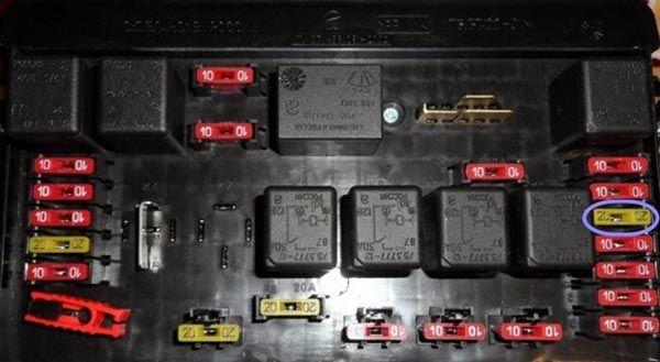 Реле вентилятора ВАЗ 2114