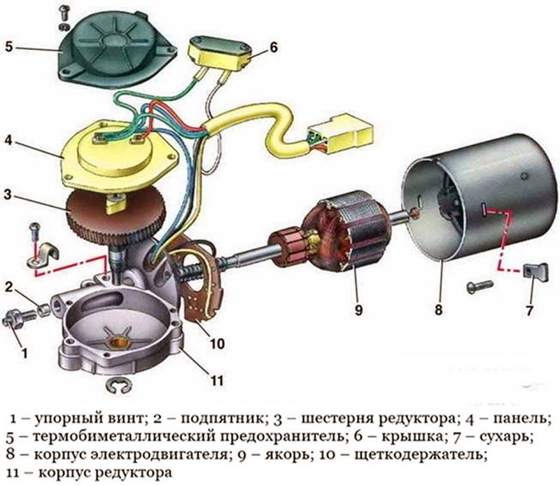 Моторчик дворников ВАЗ 2114