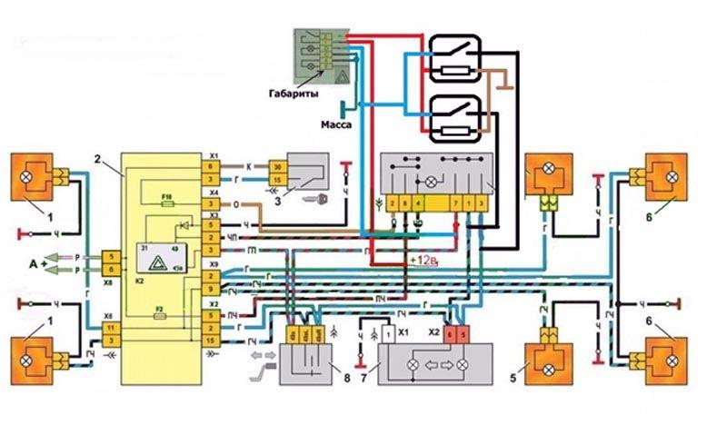 Схема аварийки на ВАЗ 2114
