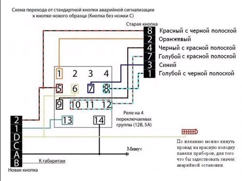 Схема подключение еврокнопки