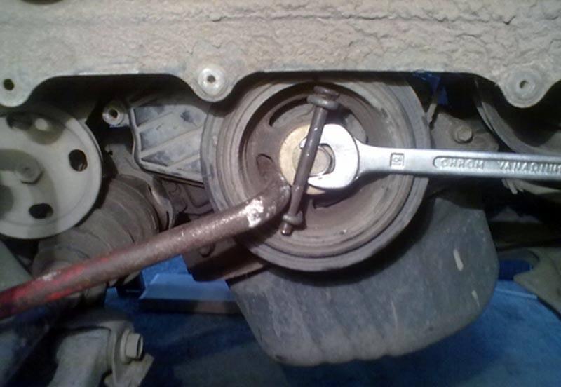 Как снять шкив коленвала на ВАЗ 2114